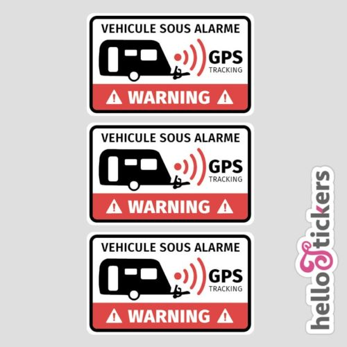 stickers autocollants alarme caravane gps tracking