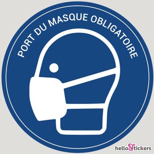 sticker autocollant port du masque obligatoire coronavirus covid19 pour entreprise commerce