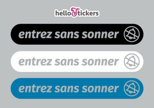 Stickers autocollants entrez sans sonner pour porte d'entrée professionnels