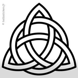 Sticker autocollant symboles celtiques nœud celtique