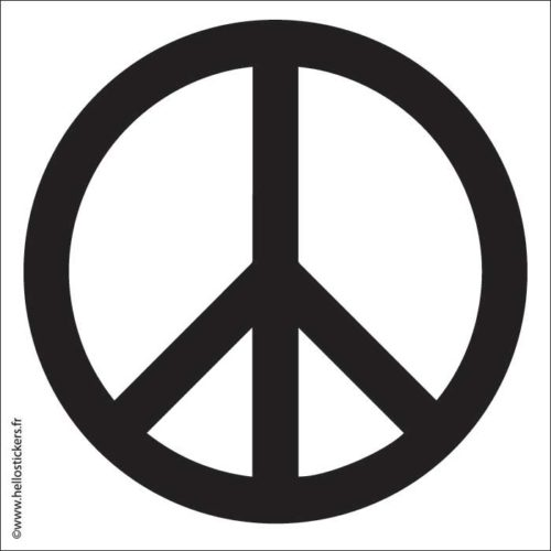 autocollant symbole paix_peace_sigle_symbole pour mac pc ordinateurs