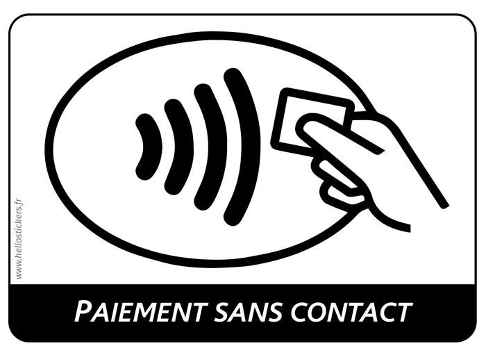 Sticker paiement sans contact logo autocollant adhésif étiquette pour commerce boutique magasin