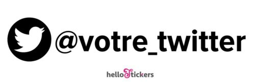 Sticker autocollant twitter réseaux sociaux personnalisable à votre compte