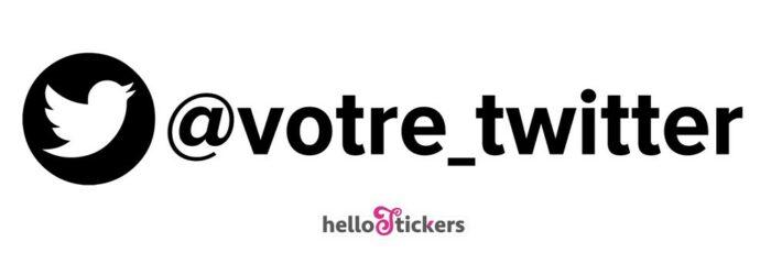 sticker autocollant twitter compte twitter personnalisable personnalisable pour ordinateur pc mac voiture vitrine de magasin #