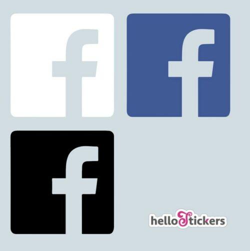 Autocollant facebook logo réseaux sociaux sticker