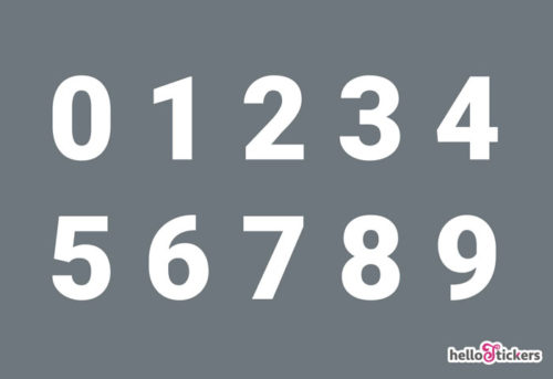 autocollant chiffres numéros adhésifs découpés