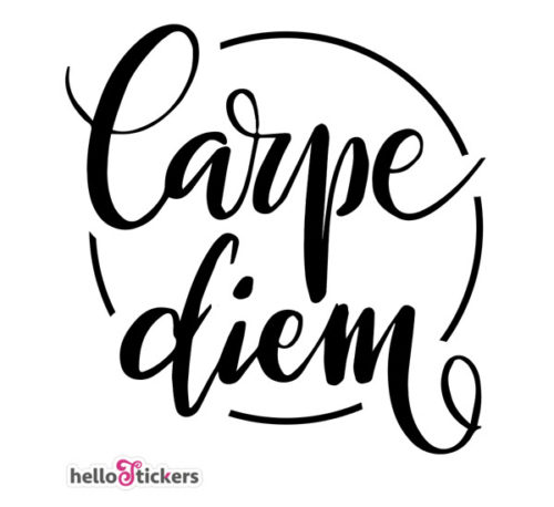 Sticker Carpe Diem citations autocollant Carpe Diem