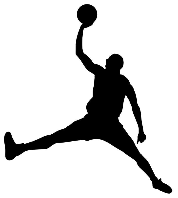 sticker basketball joueur de basket adhésif autocollant pour voiture ordinateur