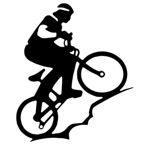Sticker autocollant VTT, vélo trail sport cyclisme