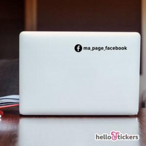 autocollant page Facebook personnalisée réseaux sociaux adhésif de votre adresse facebook avec logo Stickerpour véhicules ordinateurs vitrines