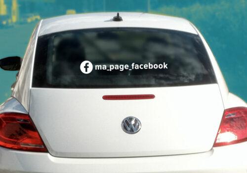 Sticker autocollant Facebook réseaux sociaux personnalisable à votre compte page facebook personnalisee pour véhicules ordinateurs vitrines