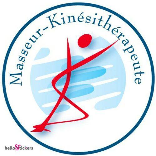 sticker autocollant masseur kinésithérapeute masseur kiné ostéopathe