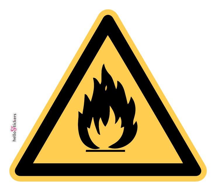 sticker_autocollant_matieres-inflammables_danger sticker sécurité pour entreprise