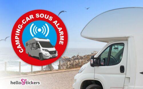 Stickers alarme camping à l'unité autocollants pour camping car – ref 240521