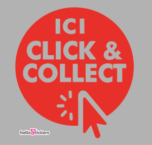 Sticker click and collect autocollant click & collect pour commerçants boutiques magasins - ref 191120