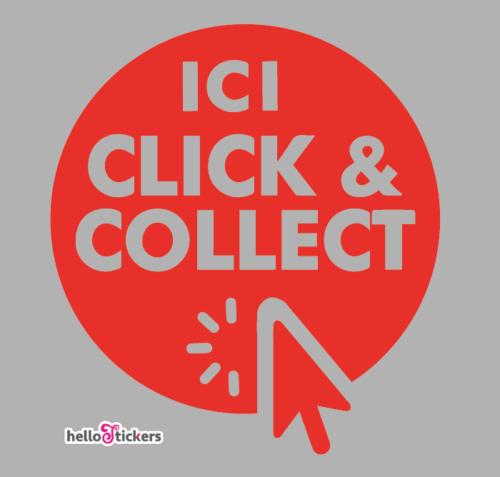 Sticker click and collect autocollant click & collect pour commerçants, restaurants, boutiques et magasins – ref 191120