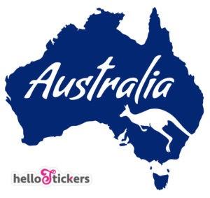 sticker-autocollant-australie-australia-kangourou-carte-australie