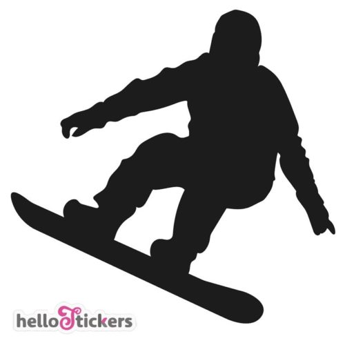 Sticker snowboarder snowboarding ski sport de glisse autocollant – ref 120121