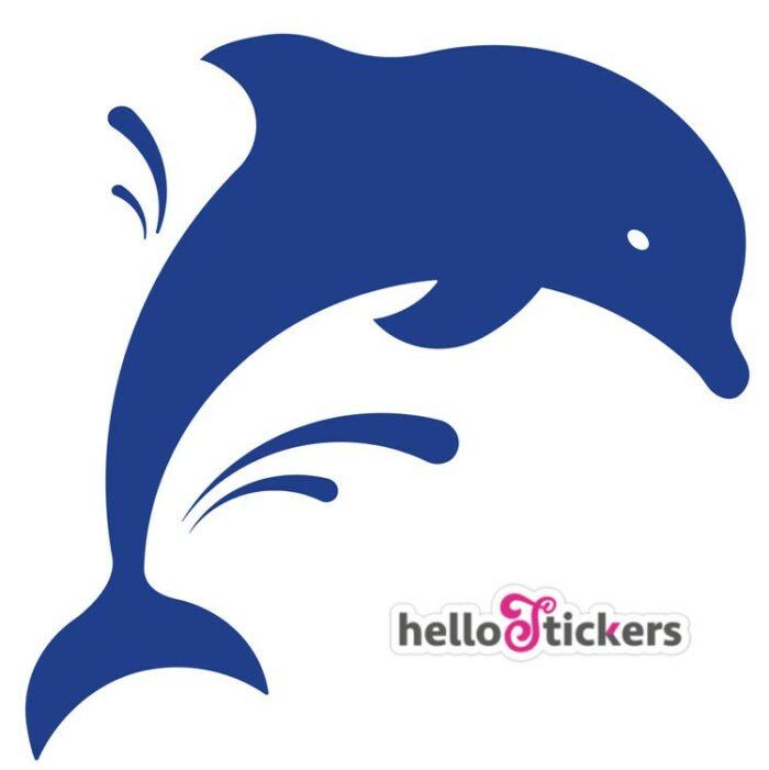 160121_autocollant_dauphins_silhouette_sticker_dauphin_animaux_marins pour salle de bain voiture bateau ordinateur portable pc mac