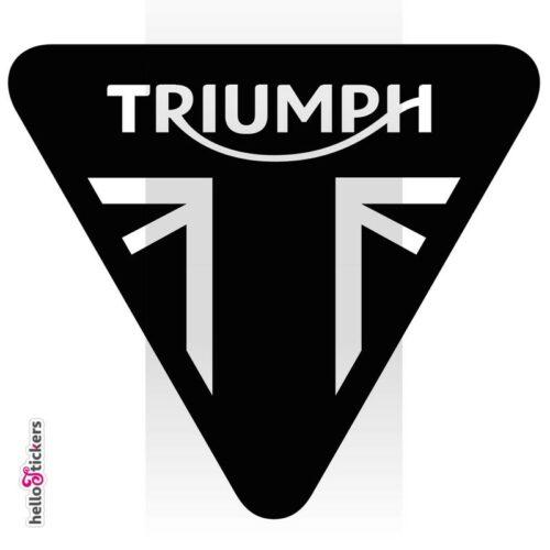 sticker Triumph logo blason moto cyclo autocollant stickers logos racer – ref 210121