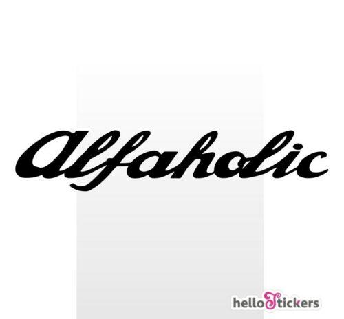 Stickers alfaholic autocollant Alfa Romeo ref 260121