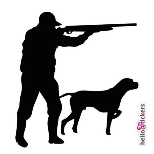 200321_autocollants_chasse_sticker-chasseur-et-chien_silhouette