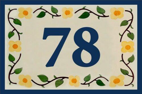 Stickers numéro de rue chiffres personnalisés déco faïence céramique autocollants pour porte, boîte aux lettres, poubelle - ref 210321c