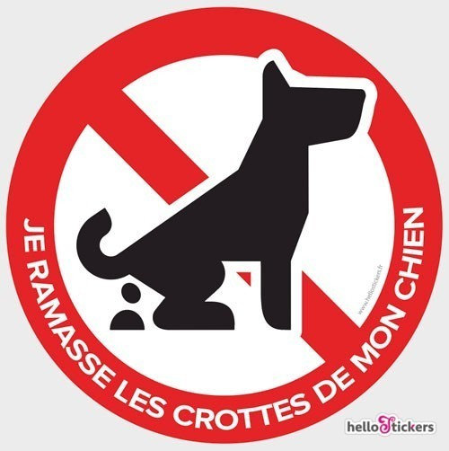 sticker-autocollant-crottes-de-chien-interdites-Déjections canines interdites