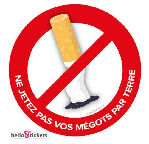 sticker autocollant ne pas jeter vos megots de cigarette par terre 280621