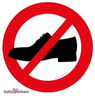 sticker autocollant pictogramme chaussures interdites icon