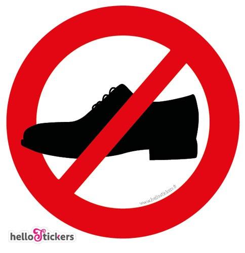 pictogramme chaussures interdites icon