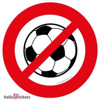 sticker autocollant pictogramme ballon interdit icon