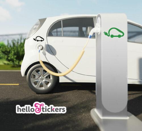 sticker autocollant voiture véhicule électrique – ref 230921