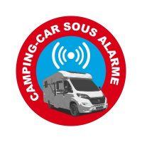 Sticker autocollant alarme camping car dissuasif amazon